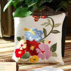 Handmade Embroidery Cushion Case
