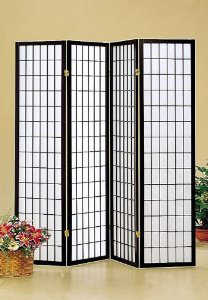 Oriental Style 4-Panel Room Screen Divider